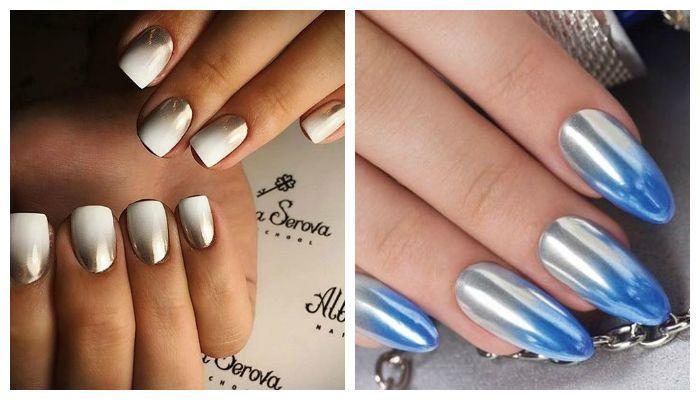 Mirror manicure gel polish: 5 manieren, 50 ontwerpen | beautysummary