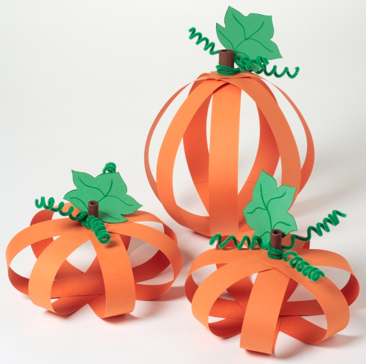 Super cute paper pumpkins from iLoveToCreate.com! looks cute and easy
