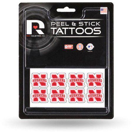 Ncaa Nebraska Peel and Stick Tattoos, Red