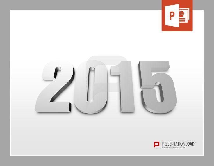 3D PowerPoint-Vorlage mit 2015. Kostenlos zum Download bei PresentationLoad. www.presentationload.de/2015-kostenlose-powerpoint-vorlage.html