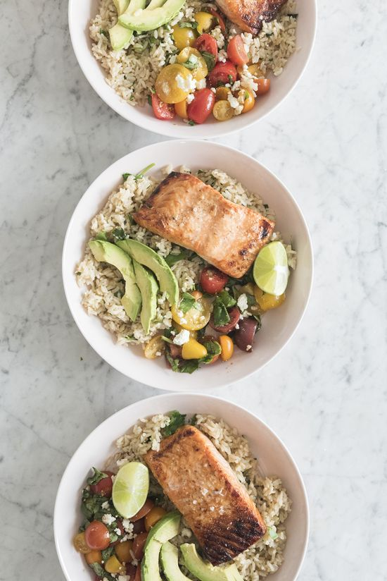 HONEY AND LIME SALMON BOWLS