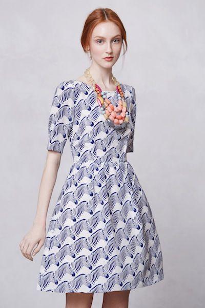 peter som's anthropologie collection zebra print dress