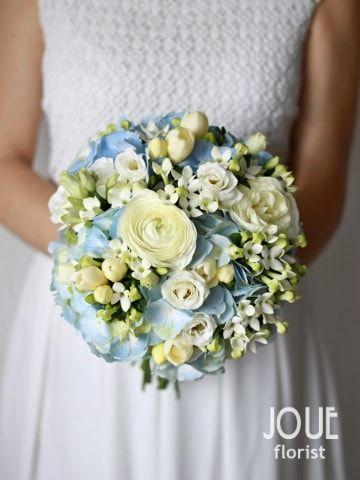 Modro bílá svatba, kytice pro nevěstu #2