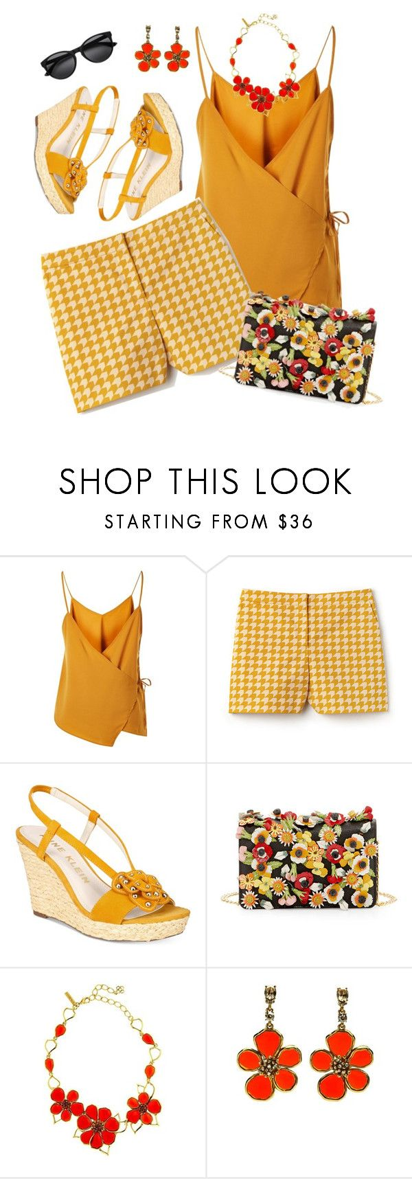 """""""Summer Shorts"""" by sew-inspired ❤ liked on Polyvore featuring WYLDR, Lacoste, Anne Klein, Prada and Oscar de la Renta"""