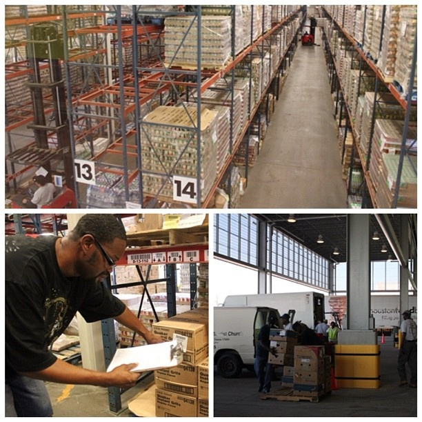 A busy day in our warehouse.