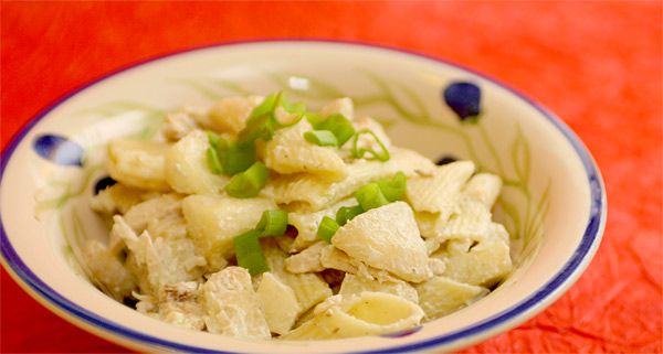 Körtés-csirkés tésztasaláta