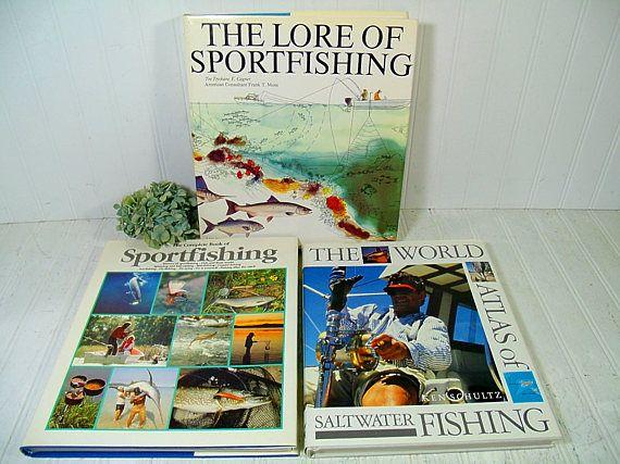 Set of 3 Very Large Sportfishing Books  Vintage Fishing Books