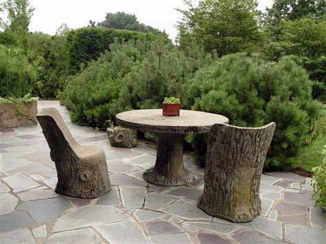 The old concrete is beautiful on this vintage slate terrace  It is the  organizing element for a private and intimate garden space. 57 best Garden Furniture images on Pinterest   Garden furniture