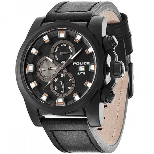Police Speedster PL.13928JSB/02 Mens Watch Multifunctional 4895148632062      	Stainless steel case, black coating, mat  	Leather strap, black, pin buckle  	Quartz movement, battery operated  	Month display, Weekday display, Date display, 24 hour display  	5 ATM Water Resistant  	Case width ca. 48 mm      Comes with booklet and box.    MSRP: 199,00 EUR | Shop this product here: http://spreesy.com/vampire_clothing/29 | Shop all of our products at http://spreesy.com/vampire_clothing…