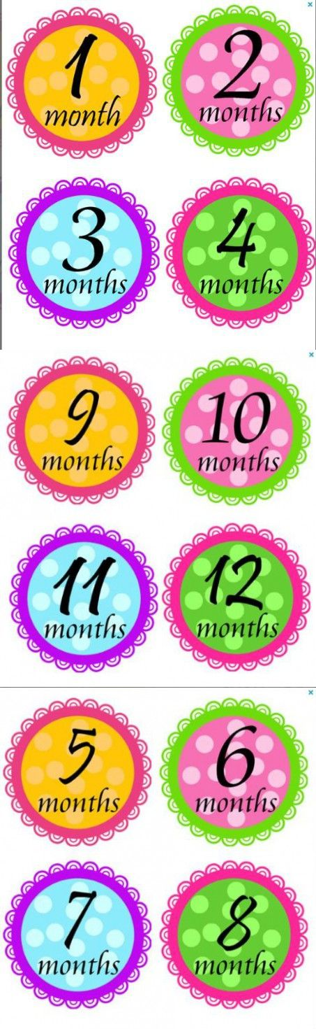 Monthly Stickers Monthly Baby Girl Stickers Pristina Laced Waterproof Baby Shower Gift