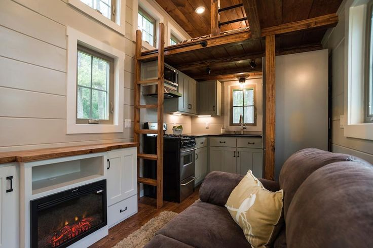Electric Fireplace - Retreat by Timbercraft Tiny Homes