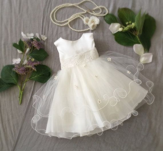 Soft White Ivory Tulle Baby Girl Dress, Baptism Speical Ocassion First Birthday Dress, Baby Boudoir Photoshoot, Fancy Frilly Girly Tulle