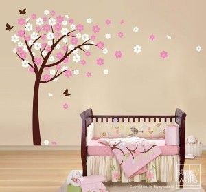 someday when I have a baby girl :): Wall Art, Cherries Blossoms, Cherry Trees, Cherries Trees, Girls Room, Vinyls Wall Decals, Baby Girls, Girls Nurseries, Nurseries Ideas