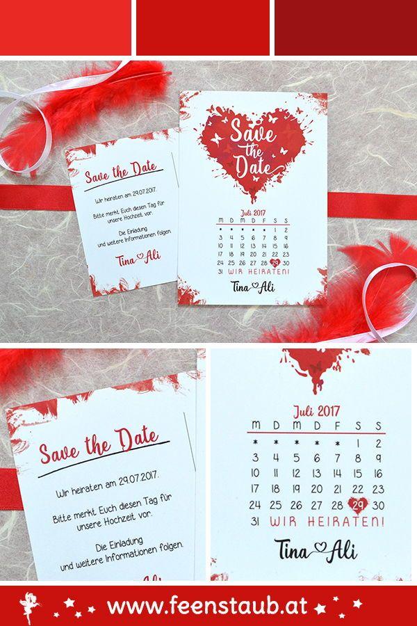 Save The Date Termin Vormerken Hochzeit Einladung Pinterest