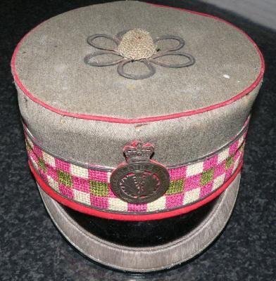 Faded cap belonging to Lieutenant Knox, Queensland Scottish company of the Queensland Rifles c1890s