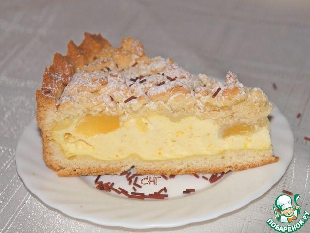 Пирог с творогом и фруктами - кулинарный рецепт