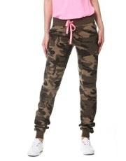 Terranovastyle.com - Pantalone lungo in french terry, fantasia mimetica. Modello con coulisse in vita e polsino alle caviglie
