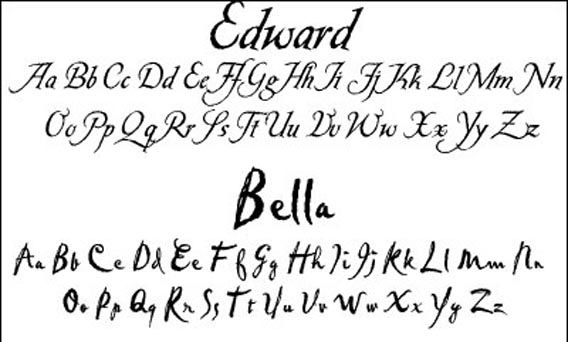 Free handwriting and script fonts examples