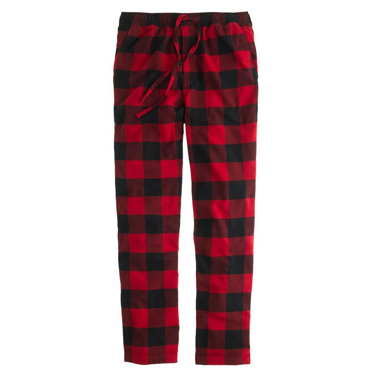 J.Crew men's flannel pajama pant in buffalo check.