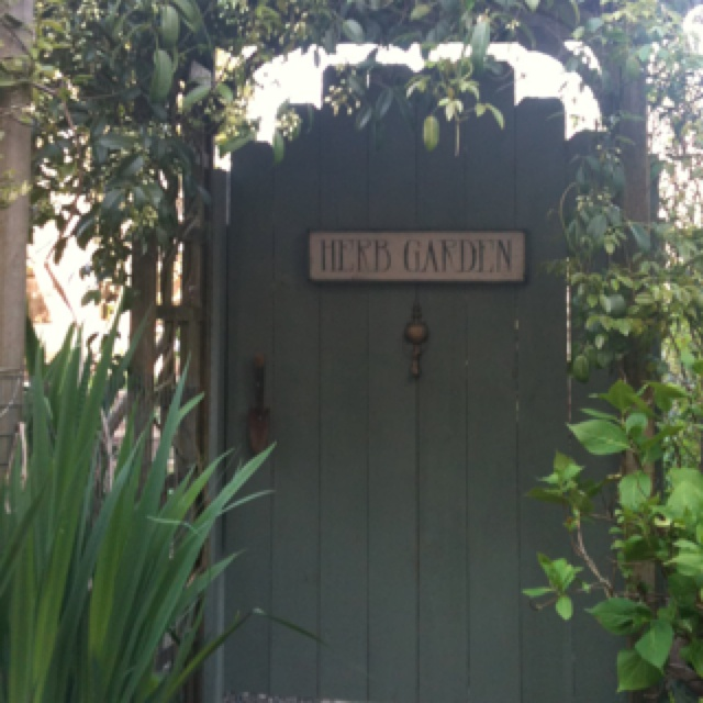 The secret garden gate, love it!!