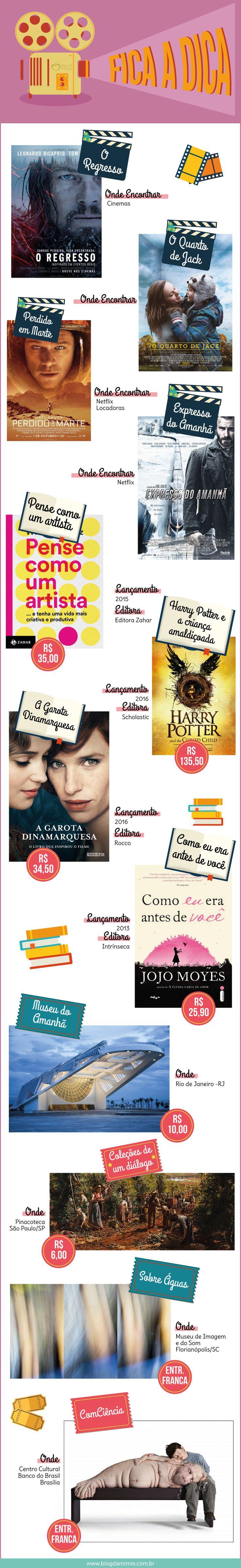 Fica a Dica: março - Blog da Mimis - Sugestões de livros, filmes, séries e exposições.