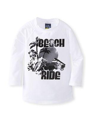53% OFF Charlie Rocket Boy's Beach Ride Rashguard (Black Ink)