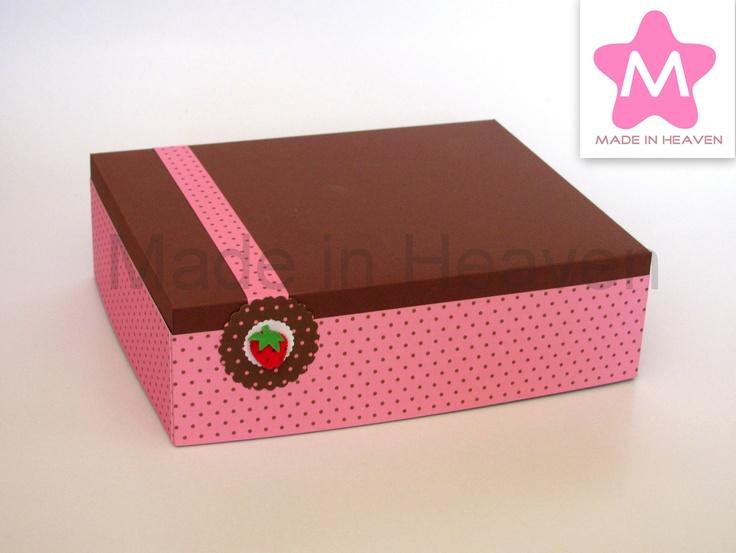 Expositor 20x25cm Strawberry & Chocolate Base em esferovite