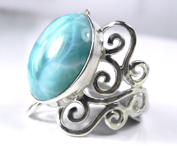 Larimar Ring - love that type of stone, looks like water