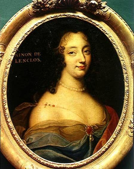 Ninon de l'Enclos (1620-1705), famed author, courtesan, freethinker and patron of the arts, by Louis Ferdinand Elle