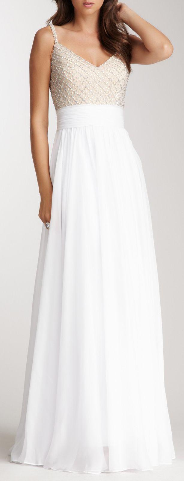 White apron menu oshawa - Beaded Gown