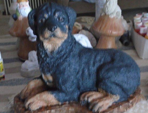 Concrete Statue Rottweiler Mini Me Sealed Or Hand Painted Etsy Concrete Statues Statue Rottweiler