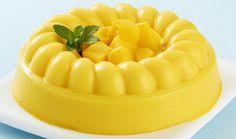 Gelatina de queso y mango