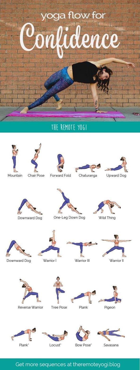 Yoga Sequence for Confidence – Free Printable PDF – The Remote Yogi