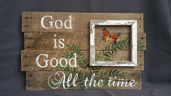 Pallet wall Decor Hand painted cardinal by TheWhiteBirchStudio