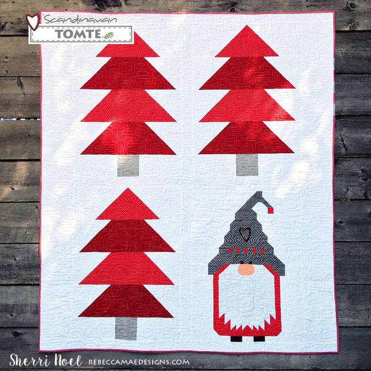 Scandinavian Tomte Christmas Quilt Pattern | Craftsy                                                                                                                                                                                 More