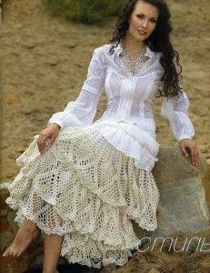 symbols pattern: Boho Chic, Knits Crochet, Dresses Pants, Knits Patterns, Woman Dresses, Skirts Patterns, Crochet Skirts, Crochet Patterns, Crochet Clothing