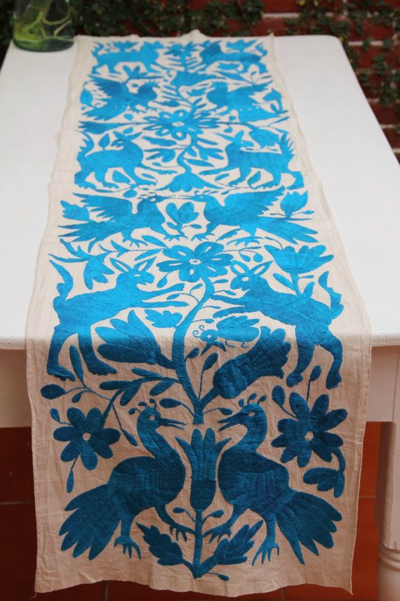 Mexican otomi embroidery