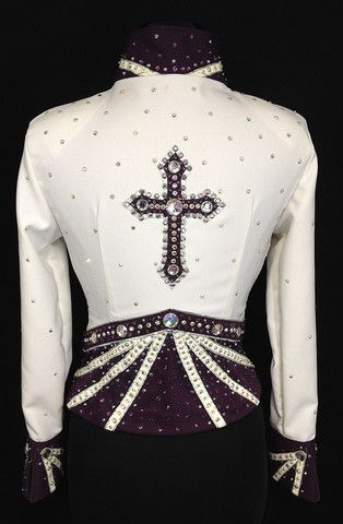 Deep Purple & White Jacket with Chaps – Just Peachy