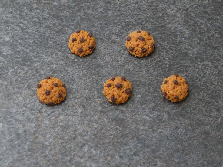 Cookie miniatures en fimo 7mm : Pâtes polymères et accessoires par jl-bijoux-creation