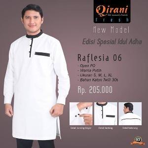 Baju Muslim Pria Koko Qirani Raflesia 06 Putih