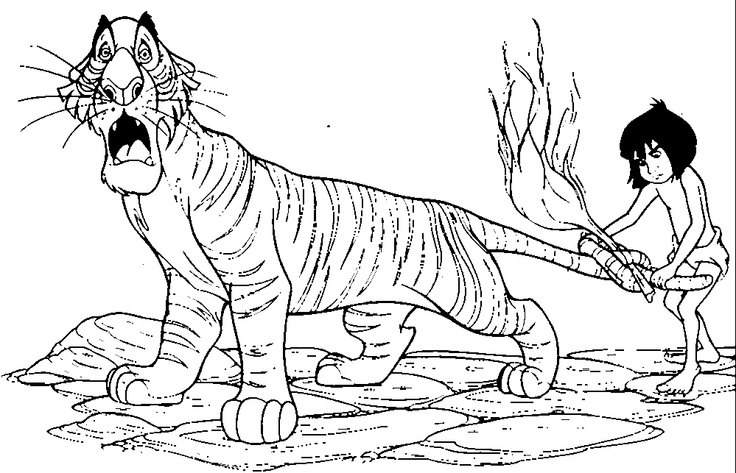 Jungle book coloring pages Coloring books, Jungle book