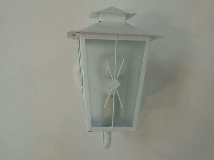 Arandela Colonial Branca Com Vidro