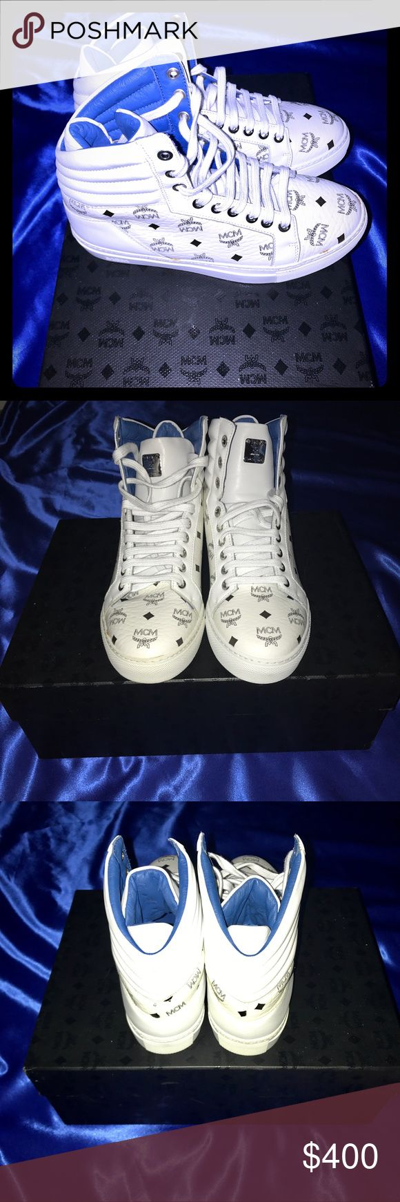 Men's MCM Sneakers Men's MCM sneakers. New in box with dust bag and authenticity documents. EUR size 36 / US size 4.5 Originally sell for $550. MCM Shoes Sneakers