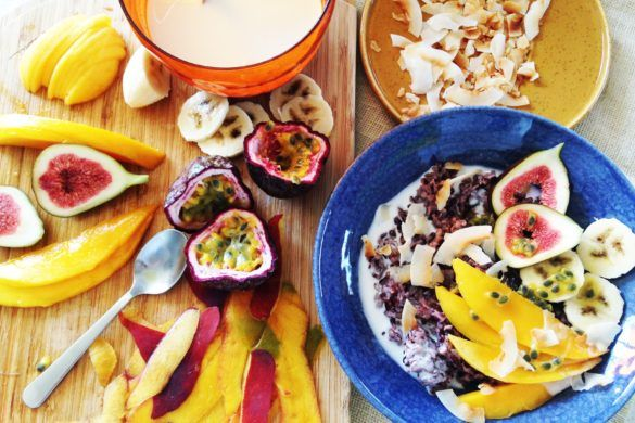 ♥ Coconut black rice pudding – vegan breakfast // Cook Up A Passion