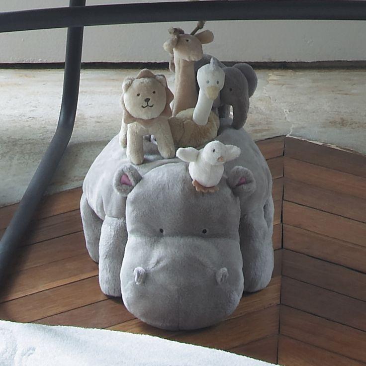Peluche d'activité hippopotame  Jacadi