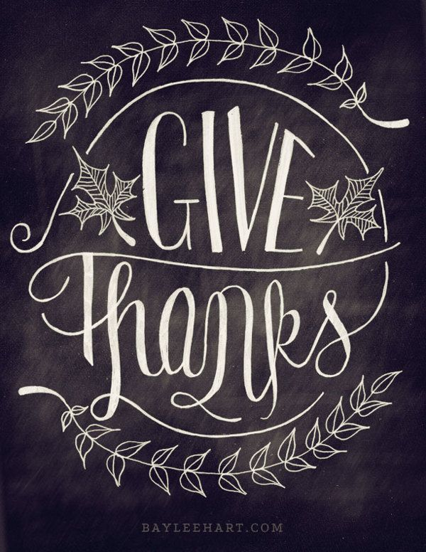Give Thanks!                                                    chalkboard...