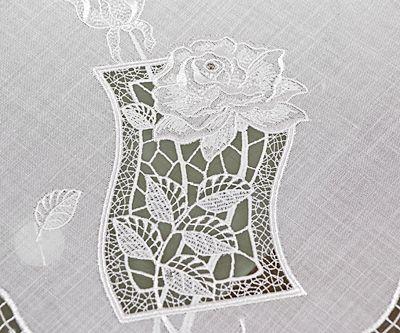 plauener spitze tischl ufer mit moderner stickerei und. Black Bedroom Furniture Sets. Home Design Ideas