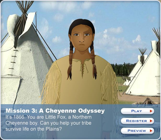 """Love this website for 5th grade American History. It is a computer game where they """"live"""" in a famous American historical era and experience the significant events."""
