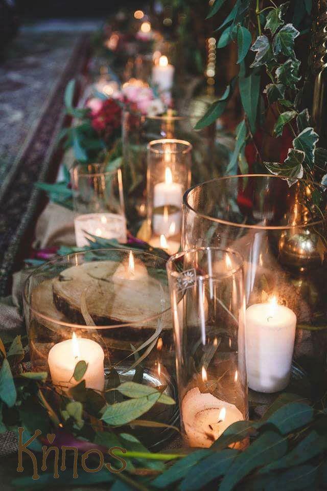 rustic deep red wedding decoration
