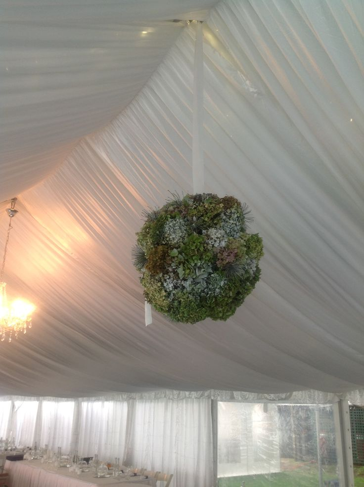 Gorgeous Marquee flower ball decoration